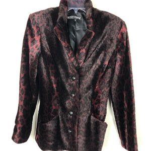 Betsey Johnson Faux Fur Velvet Like Jacket